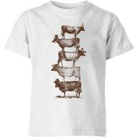 Florent Bodart Cow Cow Nuts Kids' T-Shirt - White - 7-8 Years - White