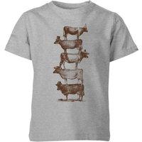 Florent Bodart Cow Cow Nuts Kids' T-Shirt - Grey - 3-4 Years - Grey