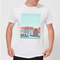 Copenhagen Men's T-Shirt - White - XS - White