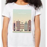 Amsterdam Women's T-Shirt - White - L - White