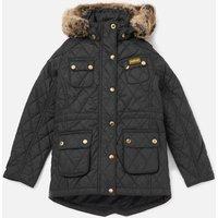 Barbour Girls International Enduro Quilt Jacket - Black - L/10-11 years - Black