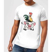 Disney Moana Hei Hei and Pua Men's T-Shirt - White - XL