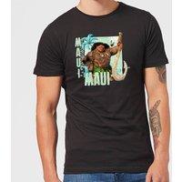 Disney Moana Maui Men's T-Shirt - Black - S