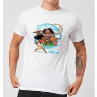 Disney Moana Wave Mens T-Shirt - White - M - White