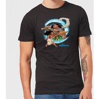 Disney Moana Wave Men's T-Shirt - Black - 3XL