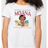 Moana Born In The Ocean Women's T-Shirt - White - L - White