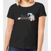 Moana One with The Waves Women's T-Shirt - Black - 4XL - Black