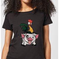 Moana Hei Hei and Pua Women's T-Shirt - Black - XXL