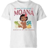 Moana Born In The Ocean Kids' T-Shirt - White - 11-12 Years - White