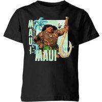 Moana Maui Kids' T-Shirt - Black - 7-8 Years - Black