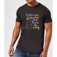 Disney Dumbo Follow Your Dreams Men's T-Shirt - Black - 4XL