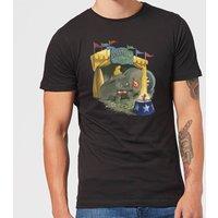 Disney Dumbo Circus Men's T-Shirt - Black - XL