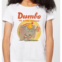 Dumbo Flying Elephant Women's T-Shirt - White - XXL