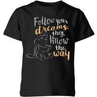 Dumbo Follow Your Dreams Kids' T-Shirt - Black - 5-6 Years - Black