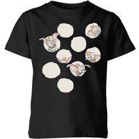 Dumbo Peekaboo Kids' T-Shirt - Black - 7-8 Years - Black