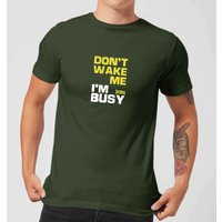 Plain Lazy Don't Wake Me Men's T-Shirt - Forest Green - XS - Forest Green