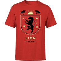 The Lion Of Flanders Men's T-Shirt - L - Red