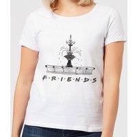 Friends Fountain Sketch Women's T-Shirt - White - M - White