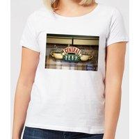 Friends Central Perk Coffee Sign Women's T-Shirt - White - 3XL - White