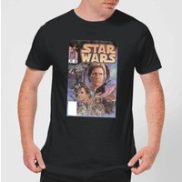 Star Wars Classic Comic Book Cover Mens T-Shirt - Black - 5XL - Black
