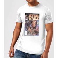 Star Wars Classic Comic Book Cover Men's T-Shirt - White - 3XL - White