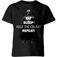 Star Wars Eat Sleep Rule The Galaxy Repeat Kids' T-Shirt - Black - 5-6 Years - Black