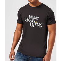 Smiley World Merry Everything Men's T-Shirt - Black - S - Black - Smiley Gifts