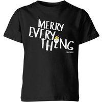 Smiley World Merry Everything Kids' T-Shirt - Black - 3-4 Years - Black