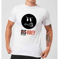Smiley World Slogan Disobey Men's T-Shirt - White - XXL - White - Smiley Gifts
