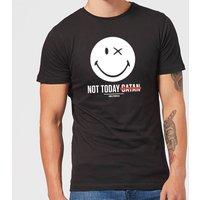 Smiley World Slogan Not Today Satan Men's T-Shirt - Black - XXL - Black - Smiley Gifts