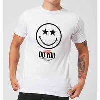 Smiley World Slogan Just Do You Men's T-Shirt - White - XXL - White - Smiley Gifts