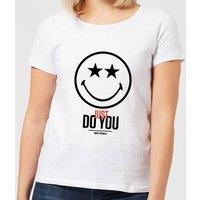 Smiley World Slogan Just Do You Women's T-Shirt - White - XXL - White - Smiley Gifts