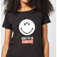 Smiley World Slogan Don't Fit In, Stand Out Women's T-Shirt - Black - XXL - Black - Smiley Gifts