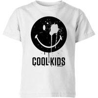 Smiley World Slogan Cool Kids Kids' T-Shirt - White - 11-12 Years - Smiley Gifts