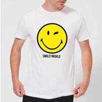 Smiley World Large Yellow Smiley Men's T-Shirt - White - XXL - White - Smiley Gifts