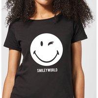Smiley World Large Smiley Women's T-Shirt - Black - S - Black