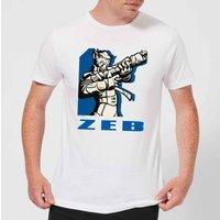 Star Wars Rebels Zeb Men's T-Shirt - White - XXL - White