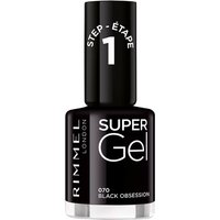 Rimmel Super Gel Nail Polish - Black Obsession