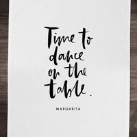 PlanetA444 Time To Dance On The Tables Cotton Tea Towel - Dance Gifts