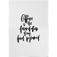 PlanetA444 Caffeine Is The Foundation Of My Food Pyramid Cotton Tea Towel - Makeup Gifts