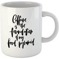 PlanetA444 Caffeine Is The Foundation Of My Food Pyramid Mug - Makeup Gifts
