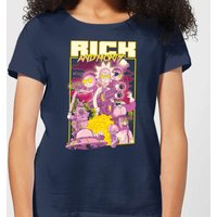 Rick and Morty 80s Poster Women's T-Shirt - Navy - M - Navy