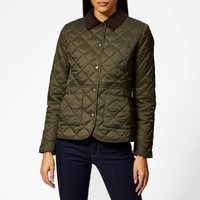 Barbour Womens Deveron Quilted Coat - Olive/Pale Pink - UK 10