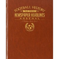 Arsenal Football Newspaper Book - Brown Leatherette - Books Gifts