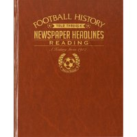 Reading Newspaper Book - Brown Leatherette - Reading Gifts