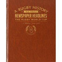 Rugby World Cup Newspaper Book - Brown Leatherette - Rugby Gifts