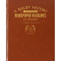 St Helens Rugby Newspaper Book - Brown Leatherette - Rugby Gifts