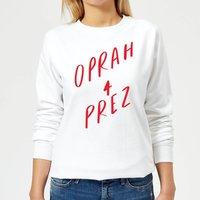 Rock On Ruby Oprah 4 Prez Women's Sweatshirt - White - S - White