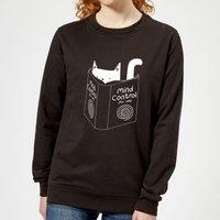 Tobias Fonseca Mind Control for Cats Women's Sweatshirt - Black - XXL - Black