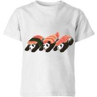Tobias Fonseca Panda Sushi Kids' T-Shirt - White - 7-8 Years - White